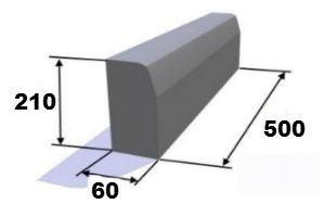 Бордюр 500х200х60 мм(вибролитой)